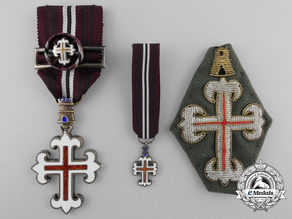 eMedals-A Portuguese Order of Military Merit; Three Items