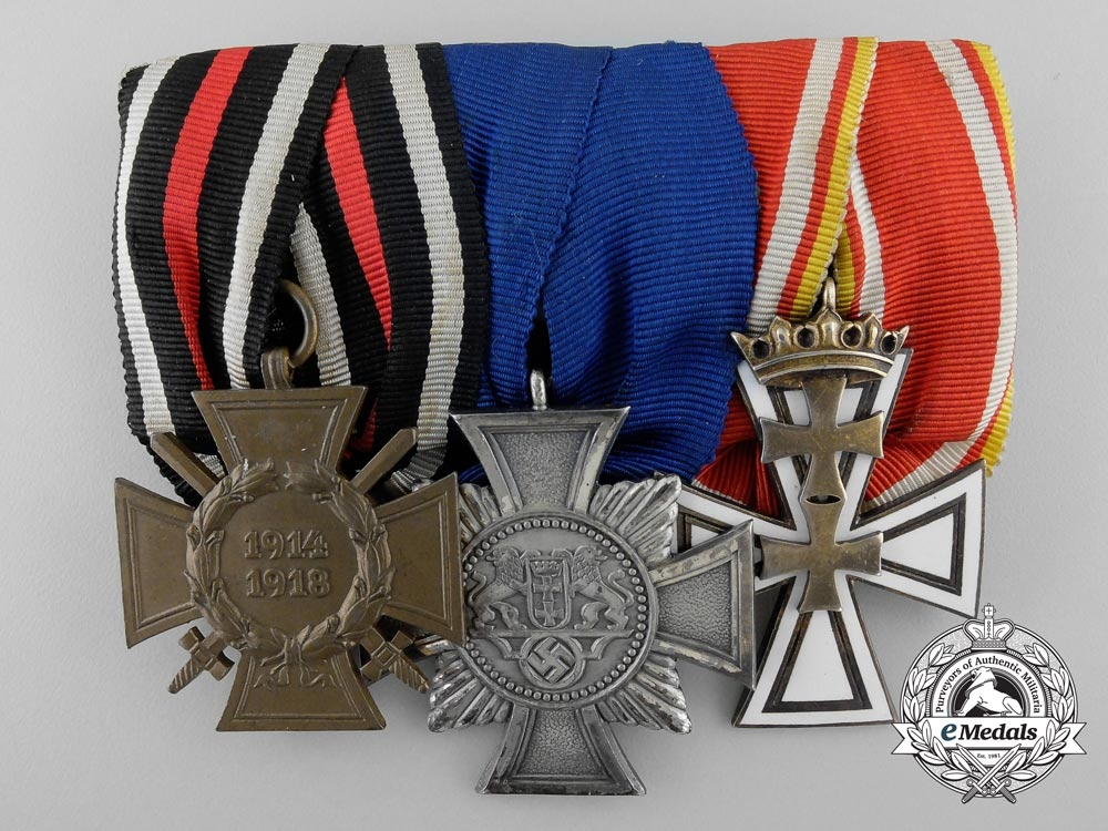 eMedals-A Rare Second War German Medal Bar with Two Danzig Awards