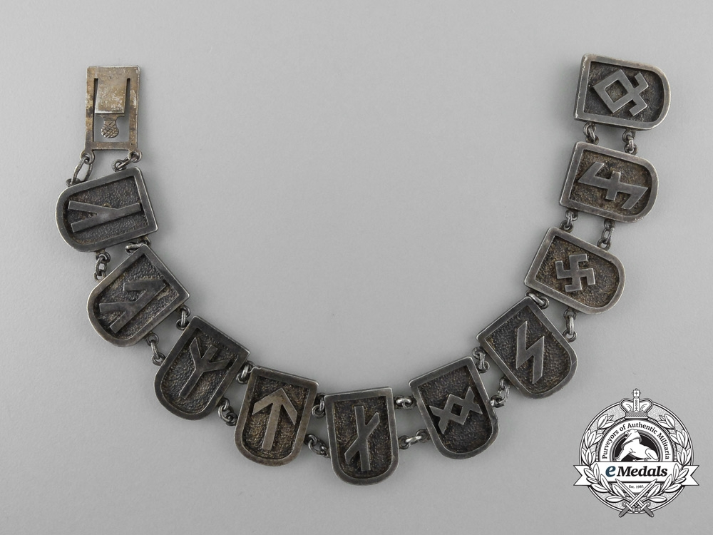 eMedals-An Unusual German Runes Silver Bracelet
