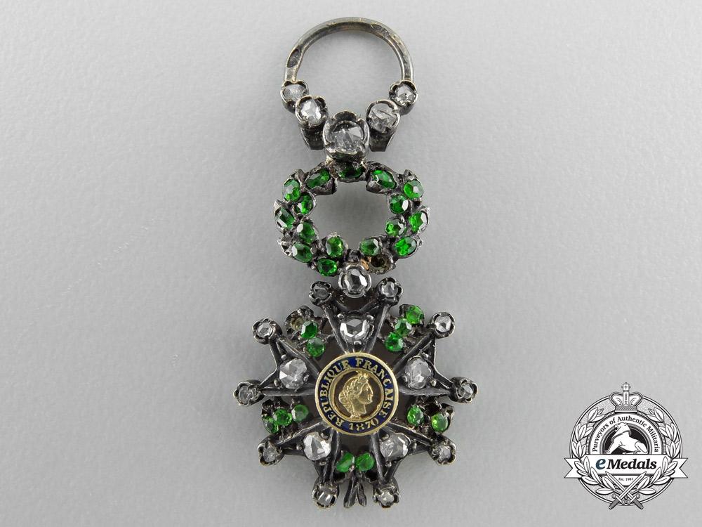 eMedals-An Exquisite Miniature French Legion D'Honneur with Diamonds
