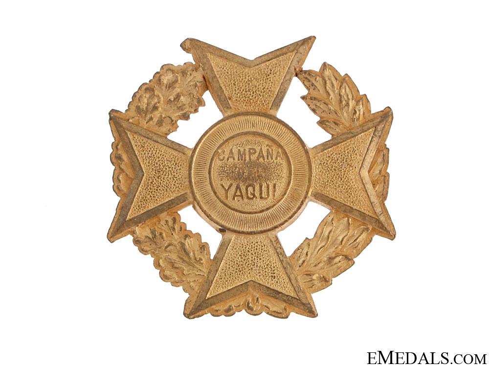 eMedals-Yaqui Campaign Cross, 1899-1910