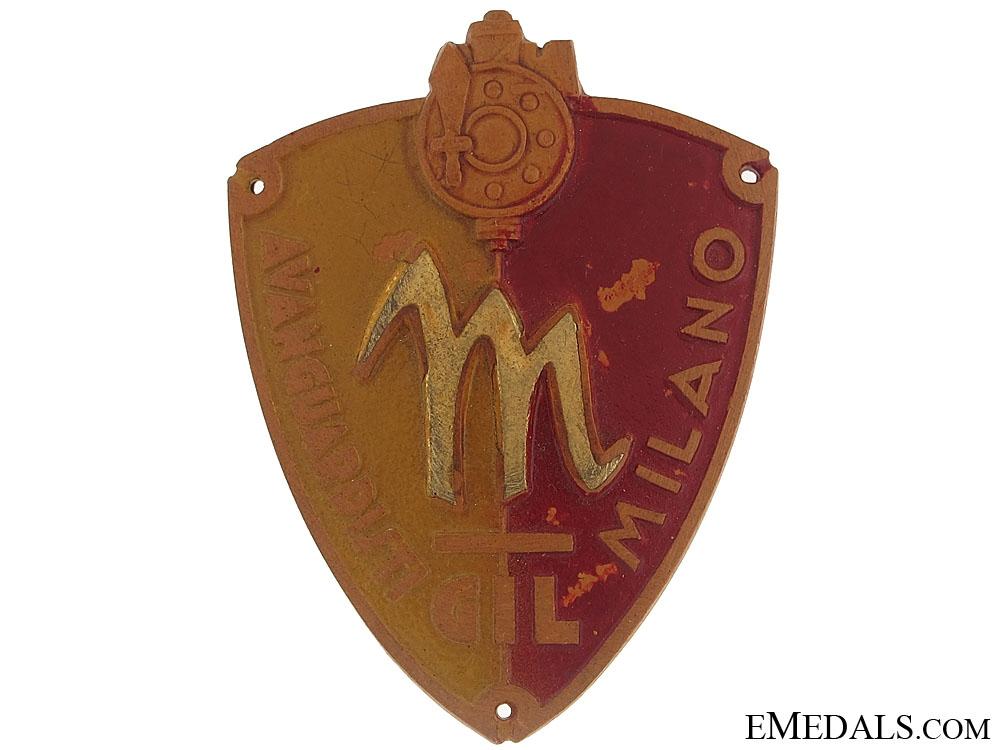 eMedals-Young Fascist Arm Badge - Milano