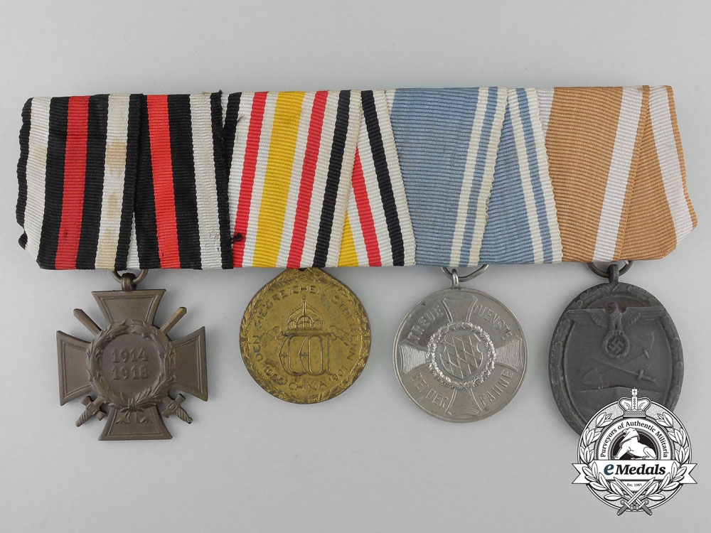 eMedals-Germany. A China Campaign & First & Second War Medal Bar