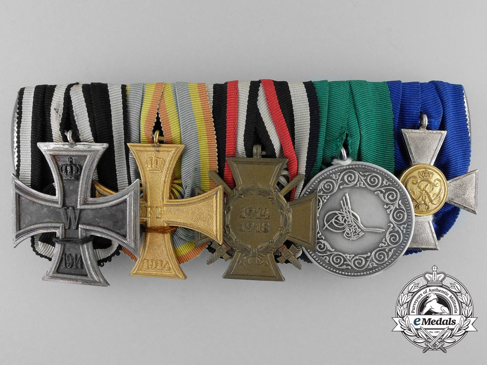 eMedals-A German Imperial Medal Bar with Turkish Life Saving Award
