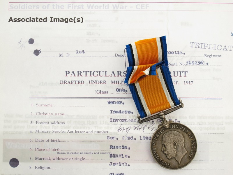 CSEF War Medal to Russian-Canadian