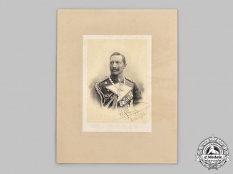 Germany, Imperial. A Signed Portrait of Kaiser Wilhelm II