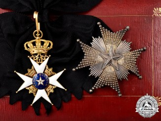 Sweden, Kingdom. An Order of the North Star, Grand Cross Set in Gold, c. 1910