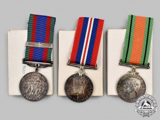 Canada, Commonwealth. Three Second War Canadian-Issued Medals, Boxed
