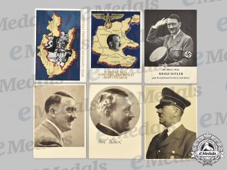 Germany, Third Reich. A Mixed Lot of AH Commemorative Postcards