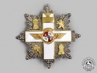 Spain, Fascist State. An Order of Aeronautical Merit with White Distinction, Breast Star (1945-1975)