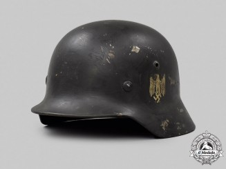 Germany, Heer. An M40 Double-Decal Stahlhelm