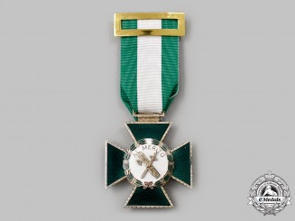 Spain, Kingdom. An Order of Merit of the Civil Guard, Cross of Merit with White Distinction, c. 1976