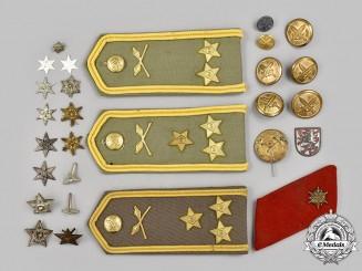 Czechoslovakia, Socialist Republic. A Mixed lot of Uniform Accessories and Insignia