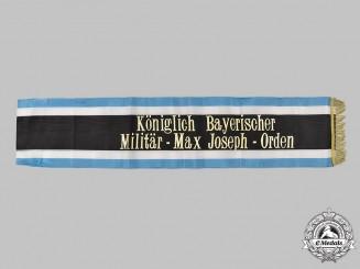 Bavaria, Kingdom. A Military Max Joseph Order Recipient's Funeral Sash