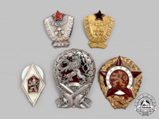 Czechoslovakia, Socialist Republic. A Mixed Lot of Graduation and Proficiency Badges