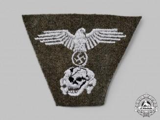 Germany, SS. A Waffen-SS EM/NCO's Dachau-Style M43 Field Cap Insignia
