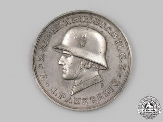 Germany, Heer. A 1941 4th Panzer Division Eastern Front Medal, by Deschelr & Sohn