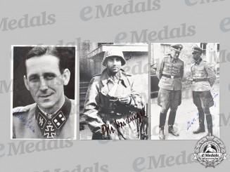 Germany, SS. A Lot of Postwar Signed Photos of Waffen-SS Knight's Cross Recipients