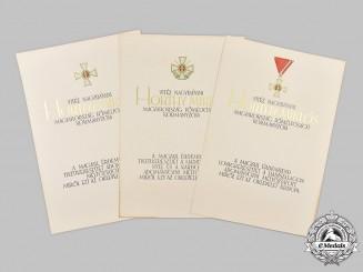 Hungary, Kingdom. A Lot of Unissued Award Documents