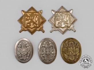 Czechoslovakia, I Republic. A Mixed Lot of Cap Badges