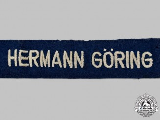 Germany, Luftwaffe. A 1st Fallschirm-Panzer Division Enlisted Soldier's Cuff Title