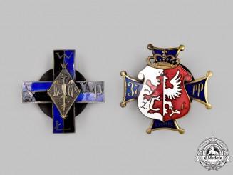 Poland, Republic. Two Regimental Badges (Collector Copies)