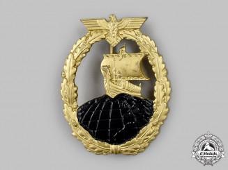 Germany, Kriegsmarine. An Auxiliary Cruiser War Badge, by Rudolf Souval