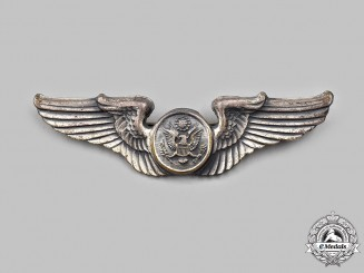 United States. A Second War Army Air Forces (USAAF) Aircrew Badge