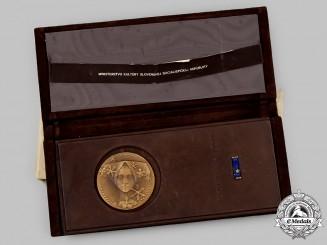 Czechoslovakia, Socialist Republic. An Exemplary Worker of Culture Award Set