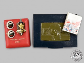 Bulgaria, People's Republic; Hungary, People's Republic. A Mixed Lot of Decorations and Accessories