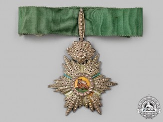 Iran, Pahlavi Empire. An Imperial Order of the Lion and the Sun, III Class Commander, c.1945