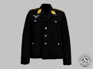 Germany, Luftwaffe. An Unusual Flight Personnel Sahariana Service Tunic