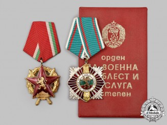 Bulgaria, People's Republic. A Pair of Decorations
