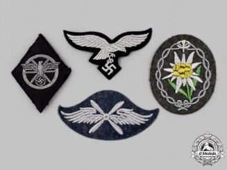 Germany, Third Reich. A Mixed Lot of Uniform Insignia