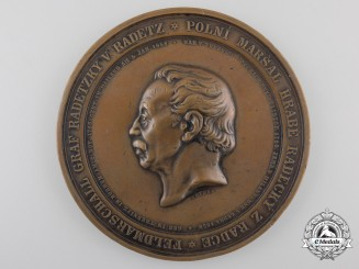 Austria, Empire. A Field Marshal Radetzky Table Medal, c.1858