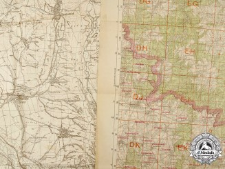 Germany, Third Reich. A Pair of Wartime Topographical Maps of Slovakia and the Protectorate of Bohemia and Marvia