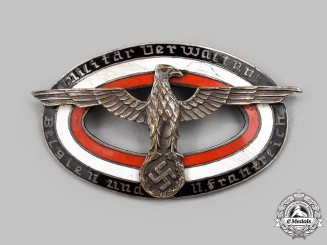 Germany, Third Reich. A Rare Badge of the Military Administration of Belgium and Northern France