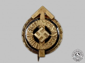 Germany, HJ. A Golden Leader's Sports Badge, Miniature Version, by Gustav Brehmer