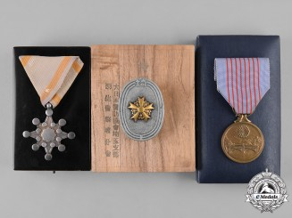 Japan, Imperial. A Lot of Three Japanese Medals
