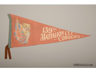 139th Battalion Cobourg CEF Pennant