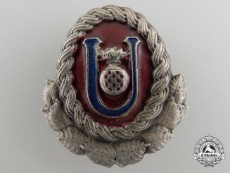 A Second War Ustasha Cap Badge