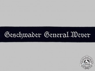 Germany, Luftwaffe. A Mint and Unissued Geschwader General Wever EM/NCO's Cuff Title