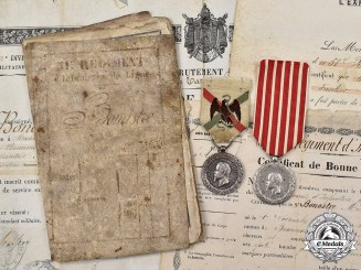 France, II Republic. An Italian Campaign & Mexican Expedition Medals with Documents, 51st Infantry of the Line Regiment