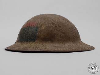 A First War Mark II 102nd Infantry Battalion Helmet
