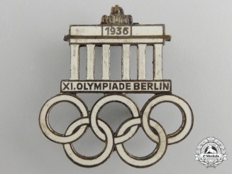 A1936 XI Summer Olympic Games Berlin Pin