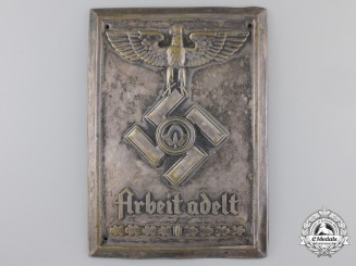 AReich Labor Service Plaque