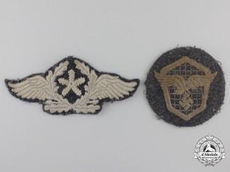 Two Luftwafffe Cloth Insignia