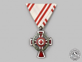 Austria, Empire. An Honour Decoration of the Red Cross 1914-1918, II Class with War Decoration, c.1915