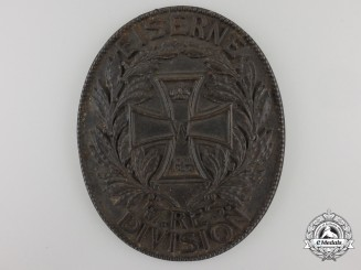 "A First World War ""Iron 47th Reserve Division"" Plaque"