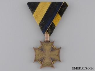 A Scarce 1813-14 Austrian Army Cross with Gold Rim & Loop